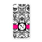Damask iPhone Case - Apple iPhone 4 Case (White)