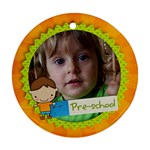 Preschool/Boy- round ornament (2 sides) - Round Ornament (Two Sides)