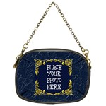 Gold and Blue Chain Purse Two Sided - Chain Purse (Two Sides)
