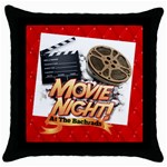 Movie  Pillow - Throw Pillow Case (Black)