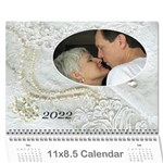Our Wedding or Anniversary 2019 (any year) calendar - Wall Calendar 11  x 8.5  (12-Months)
