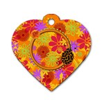 Miss Ladybugs Garden Dog Tag 1 - Dog Tag Heart (Two Sides)