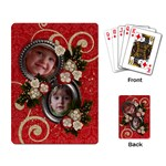 Holiday-Red & Green-playing cards (single) - Playing Cards Single Design (Rectangle)