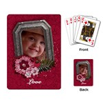 Pink Flowers/bird-Playing cards (single design) - Playing Cards Single Design