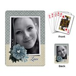 Blue floral-Playing cards (single design) - Playing Cards Single Design (Rectangle)