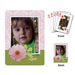 Pink Damask/Daisy-Playing cards (single design) - Playing Cards Single Design (Rectangle)