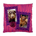 Hot Pink Zebra-Cushion Case (Two Sides) - Standard Cushion Case (Two Sides)