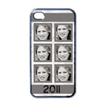grey six frame iphone - iPhone 4 Case (Black)