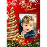 Modern Merry Christmas 5x7 Card - Greeting Card 5  x 7
