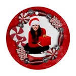 Candy Cane/ornament/christmas-Round ornament (2 sides) - Round Ornament (Two Sides)