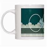 Covered in Teal Mug 1 - White Mug
