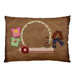 Sock Monkey Love 2 sided pillow case 1 - Pillow Case (Two Sides)
