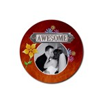 Awesome Drink Coaster - Rubber Coaster (Round)