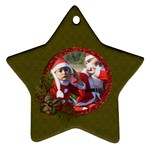 Ornament (Two Sides): Star2 - Star Ornament (Two Sides)
