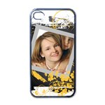 pattern girl - iPhone 4 Case (Black)