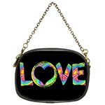 Love Tie Dye Chain Purse - Chain Purse (One Side)