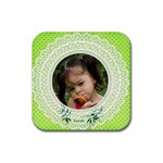 Personalised Square Coasters (green) - Rubber Coaster (Square)