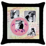 Pretty in Pink Throw Pillow - Throw Pillow Case (Black)