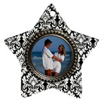 Damask star ornament-2 sides - Star Ornament (Two Sides)