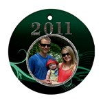Green 2011 Round Ornament - Ornament (Round)