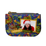 Paisley Christmas/Holiday-mini coin purse
