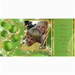 Frosted bauble Christmas Photo Card (4x8) Lime - 4  x 8  Photo Cards