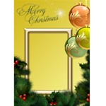Merry Christmas in yellow 5x7 Card - Greeting Card 5  x 7