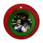 family christmas ornament - Ornament (Round)