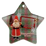 Santa Remember when 2011 ornament 23 - Ornament (Star)