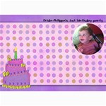irida birthday wish card - 5  x 7  Photo Cards