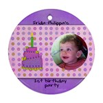 irida birthday ornament - Ornament (Round)