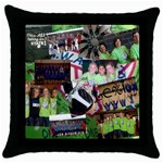 volleyball gift - Throw Pillow Case (Black)