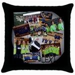 volleyball gift2 - Throw Pillow Case (Black)