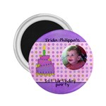 irida birthday magnet medium - 2.25  Magnet