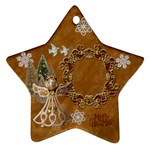 Gold angel 2011 Christmas ornament 2 SIDE - Star Ornament (Two Sides)