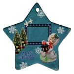 Lantern girl 2011 Christmas ornament 2 SIDE - Star Ornament (Two Sides)