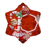 Angel Blonde Snowflake Ornament - Ornament (Snowflake)