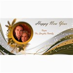 Happy New Year 4x8 Photo card in copper - 4  x 8  Photo Cards