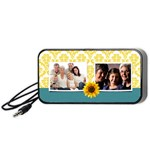 Sunflowers/Damask-portable speakers-black - Portable Speaker (Black)