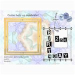 2nd Birthday Party 5x7 Invitation - 5  x 7  Photo Cards
