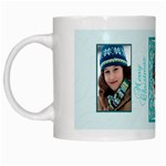 blue and white christmas mug - White Mug