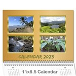Memories in gold 2019 (any Year) Calendar - Wall Calendar 11  x 8.5  (12-Months)