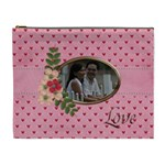 Cosmetic Bag (XL)- Pink Love