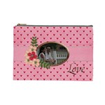 Cosmetic Bag (Large) : Pink Love