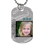 Twirl Framed Tag - Dog Tag (One Side)