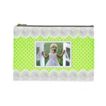 Lime and Lace Large Cosmetic Bag - Cosmetic Bag (Large)
