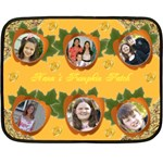 Gramma s pumpkin patch - Fleece Blanket (Mini)