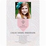 First Communion Card  - 5  x 7  Photo Cards