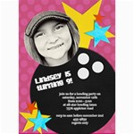 Bowling Party Invitation (5x7) - 5  x 7  Photo Cards