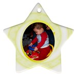 Gold Swirl Star Ornament - Star Ornament (Two Sides)